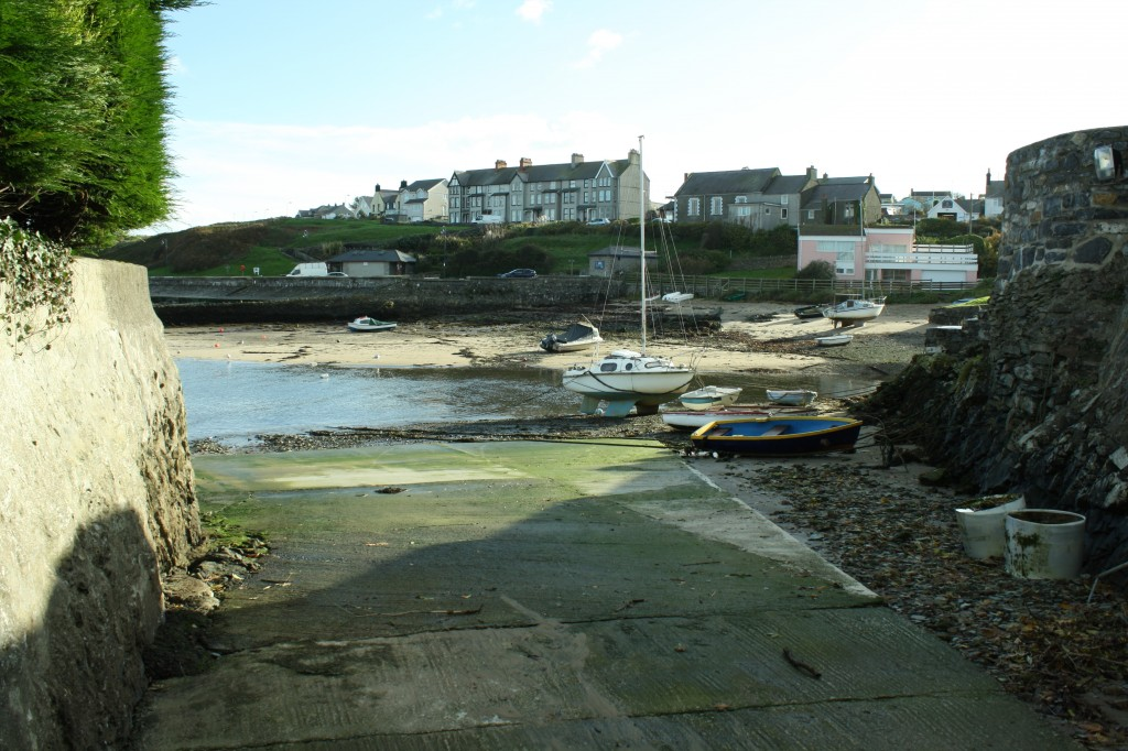 Looking down the slip at about half tide. It come up to where I am standing