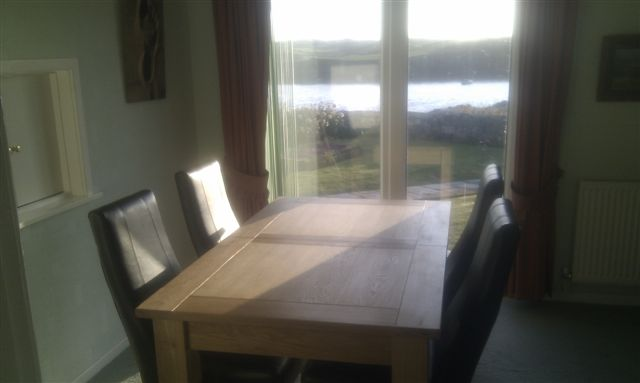 The Dining room table at Beakfast time